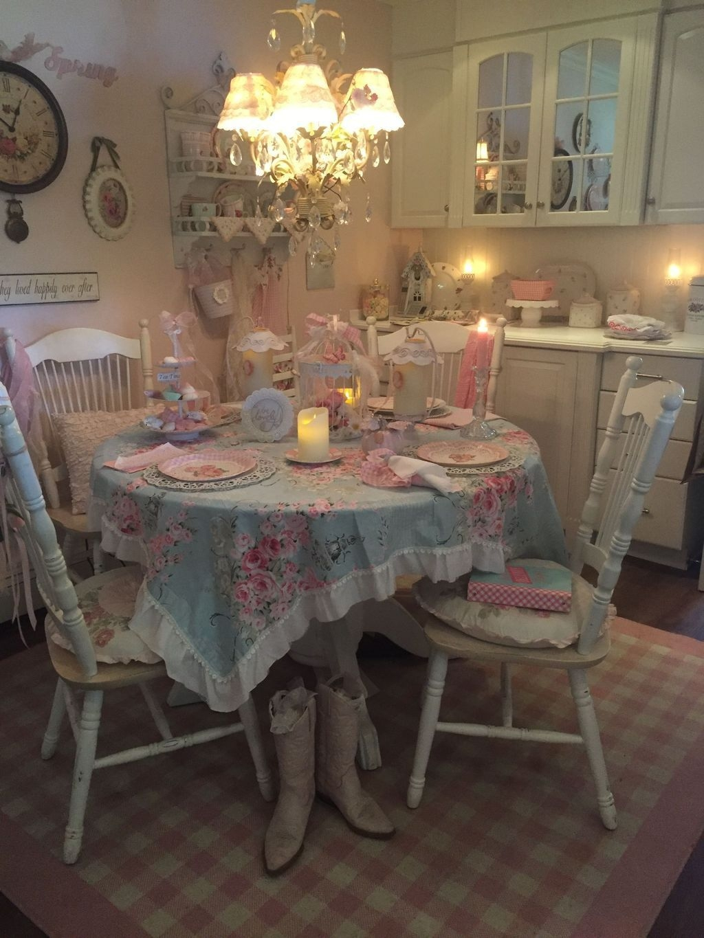 Romantic Dining Room: Sweet Romantic Dining Room Decor 07