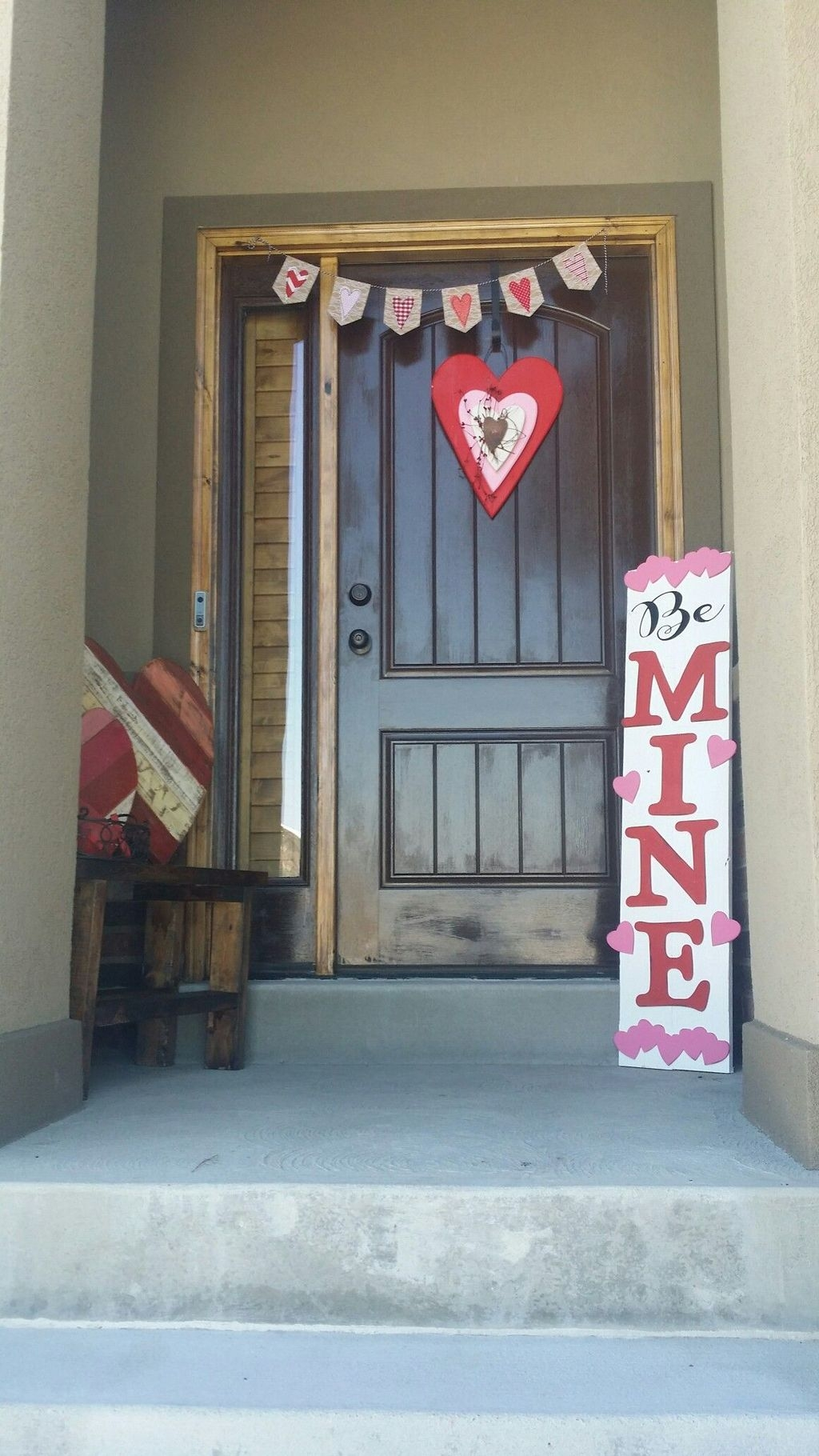 Front Porch Valentines Day Decor With LOVE Word 38
