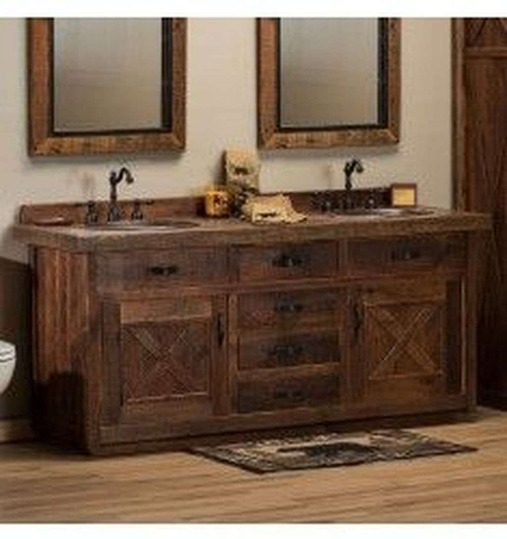 Perfect Rustic Farmhouse Bathroom Design Ideas 07