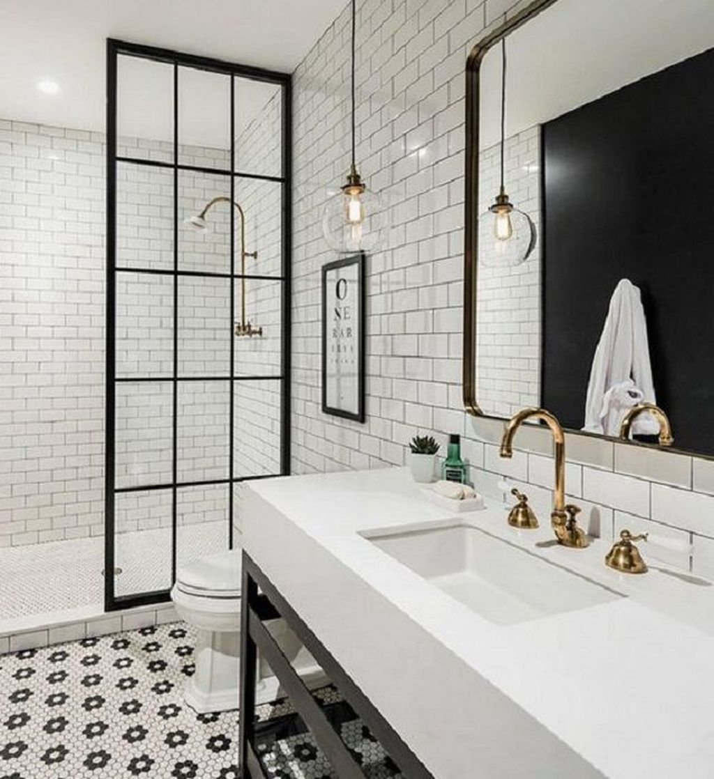 39 Amazing White Tile Bathroom Design Ideas Looks Elegant Sweetyhomee