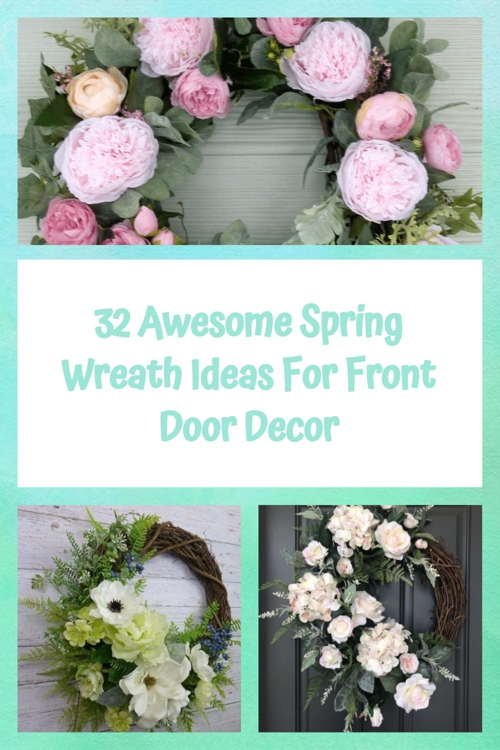 32 Awesome Spring Wreath Ideas For Front Door Decor