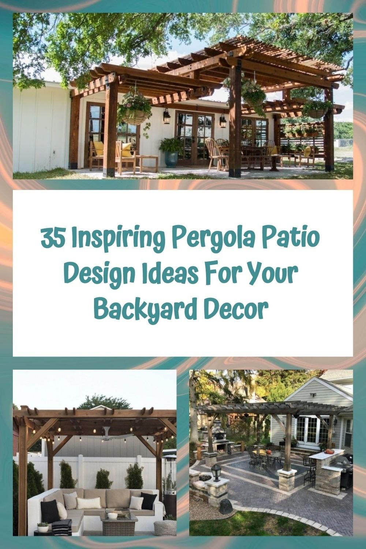 35 Inspiring Pergola Patio Design Ideas For Your Backyard Decor