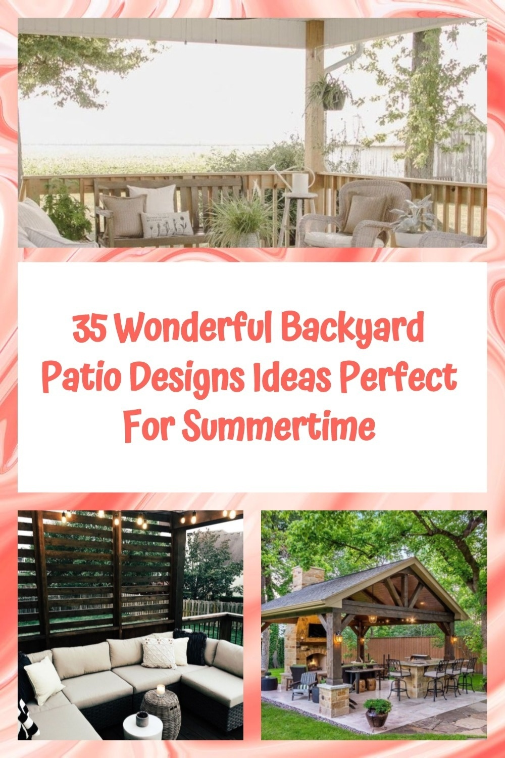 35 Wonderful Backyard Patio Designs Ideas Perfect For Summertime