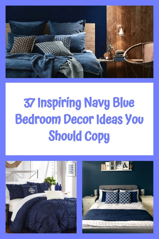 37 Inspiring Navy Blue Bedroom Decor Ideas You Should Copy