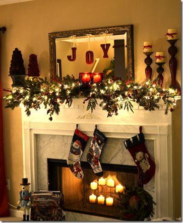 Fireplace Mantel Christmas Decor