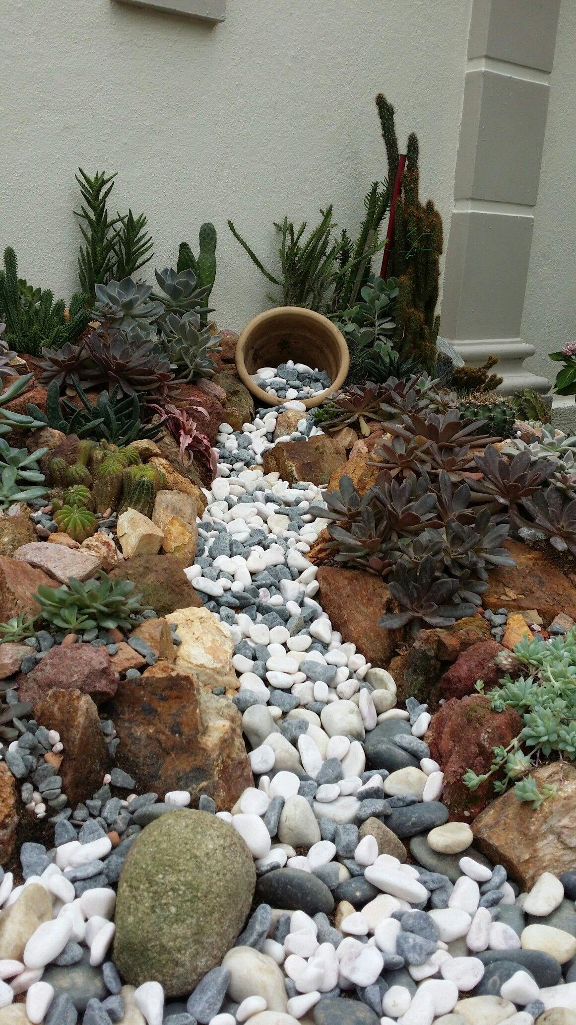 River Rock Garden Ideas
