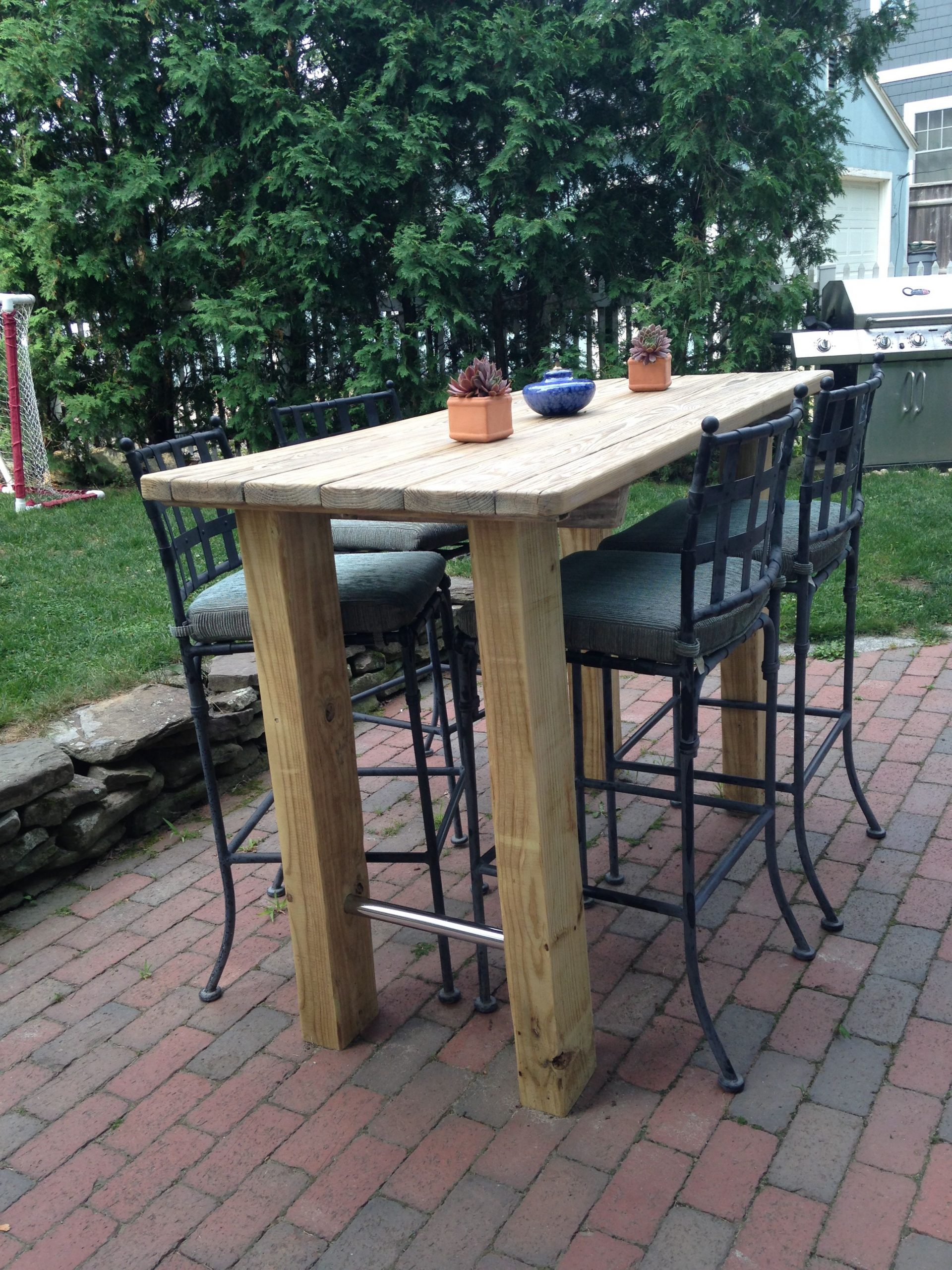 Outdoor Bar Height Table