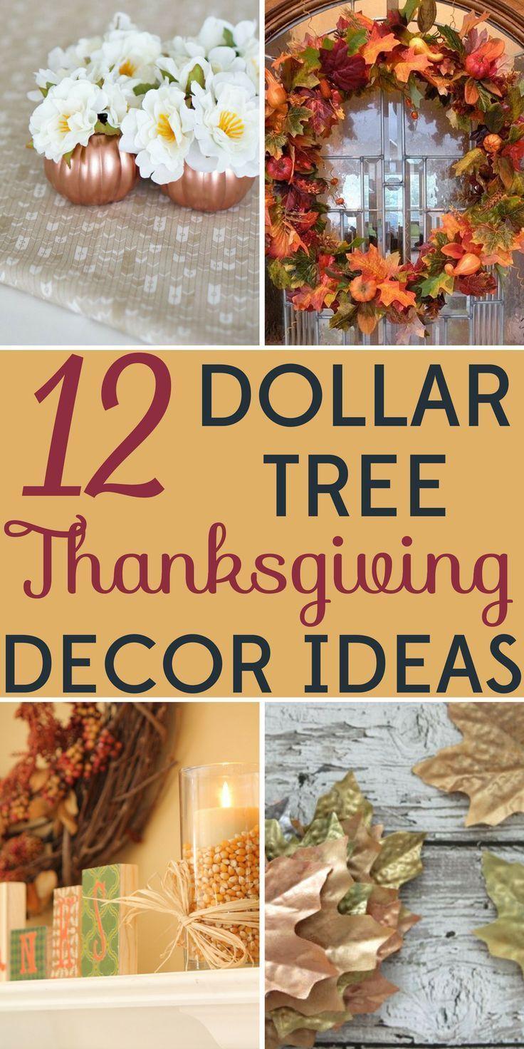 Dollar Tree Thanksgiving Decor