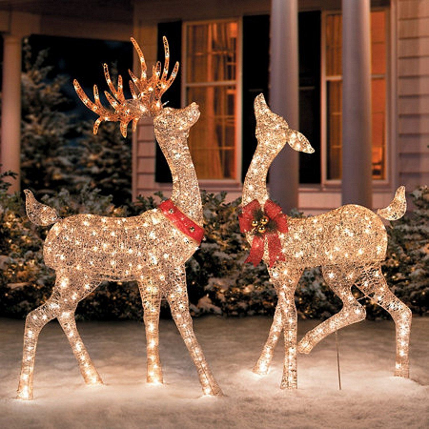 Outdoor Christmas Deer Decorations