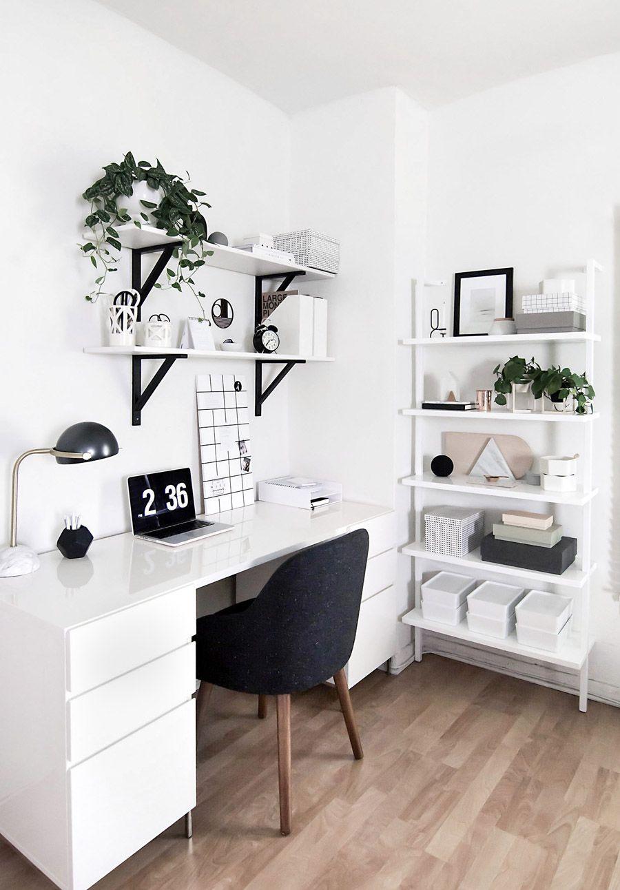 White Home Office Desk