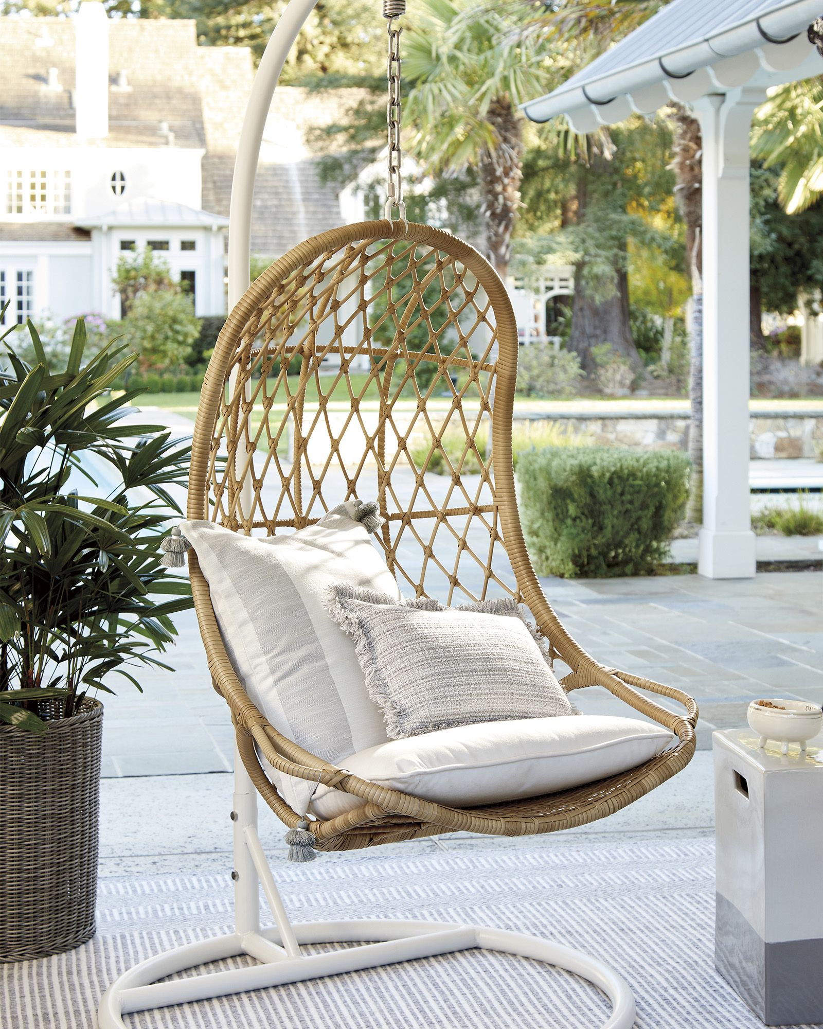 Outdoor Swing Chair With Stand