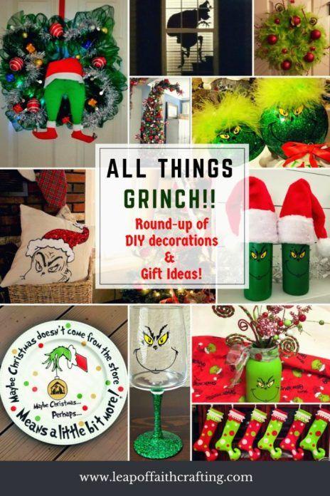 DIY Grinch Christmas Decorations