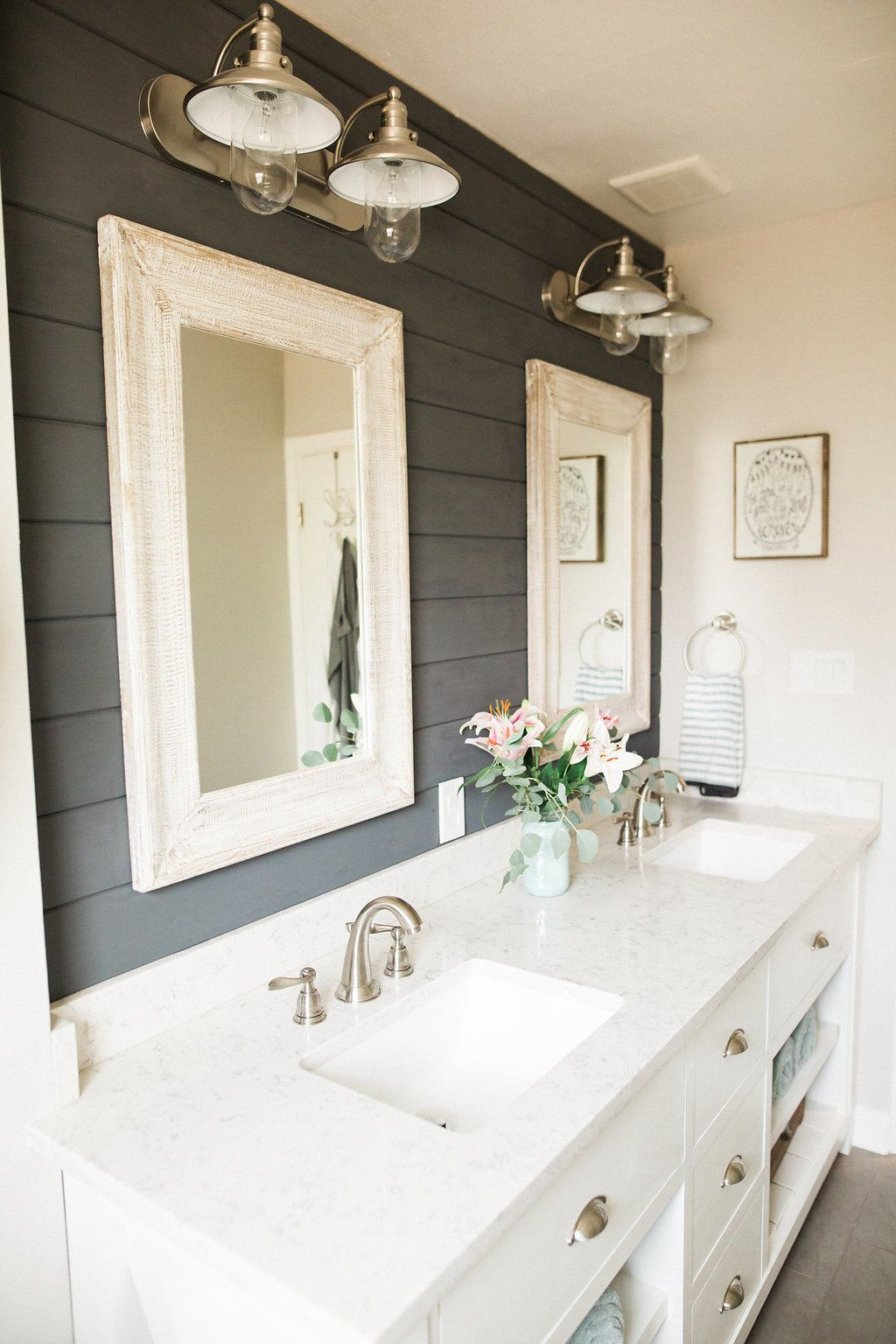 Shiplap Bathroom Wall