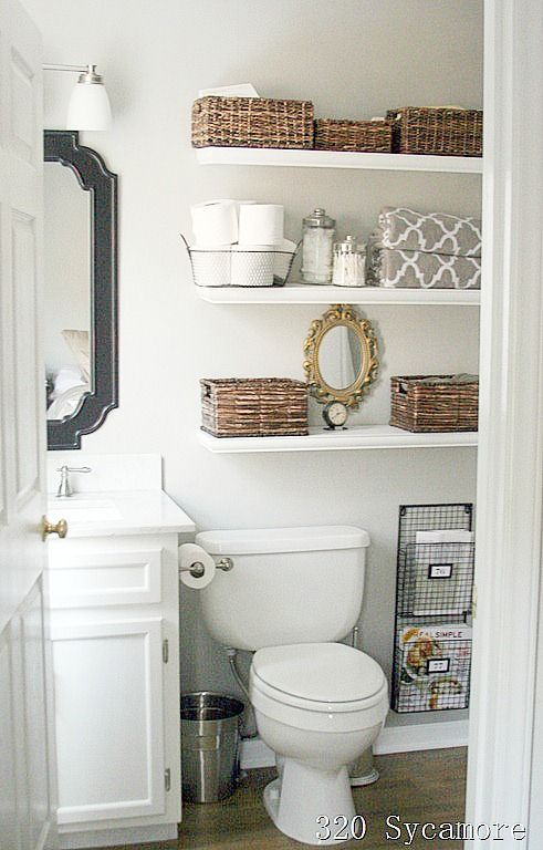 Small Bathroom Shelf