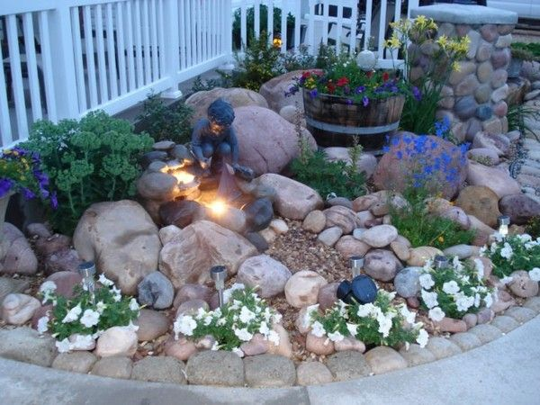 Small Corner Rock Garden Ideas