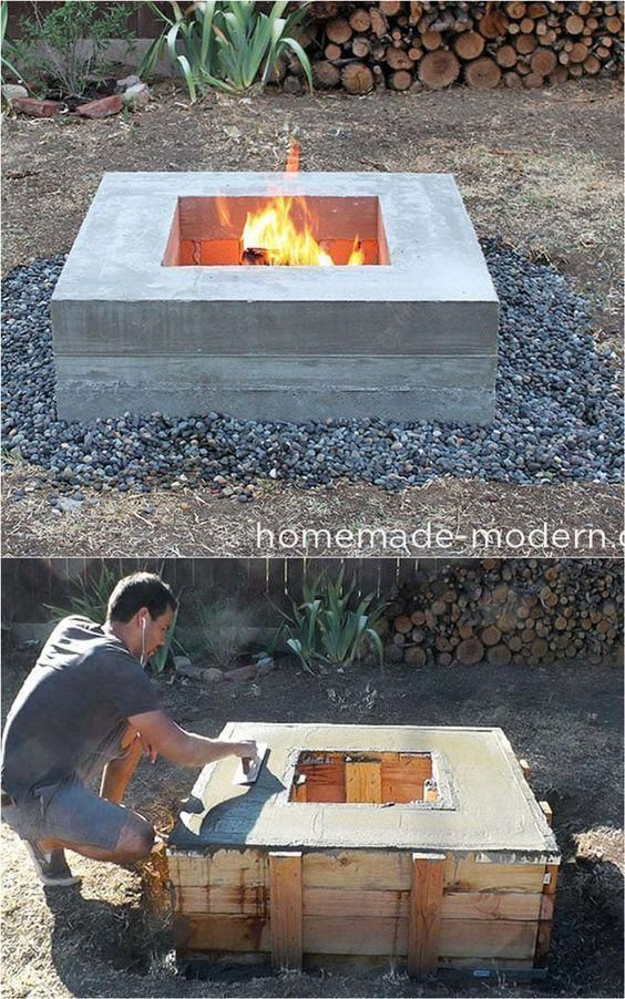 Outdoor Wood Burning Fire Pit