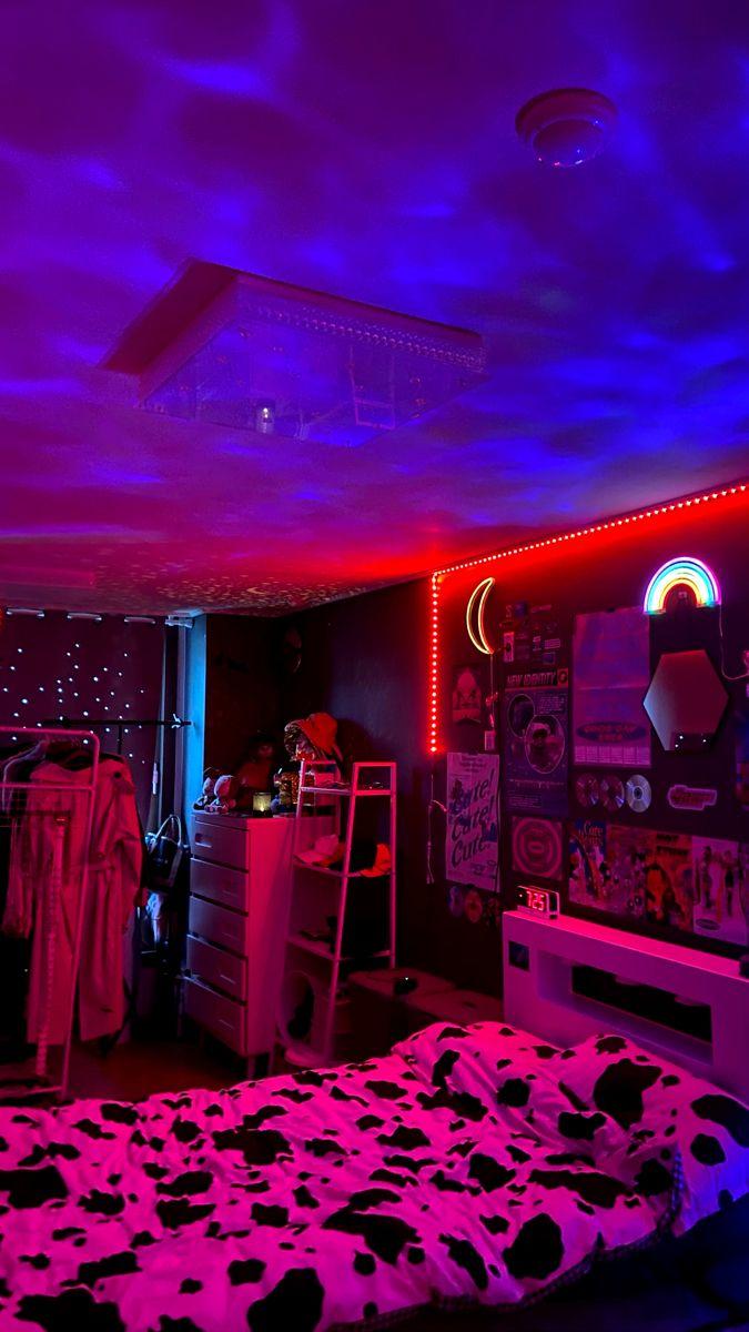 Neon Aesthetic Bedroom