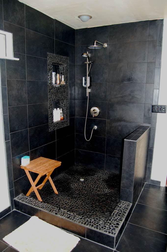 Black Tile Bathroom