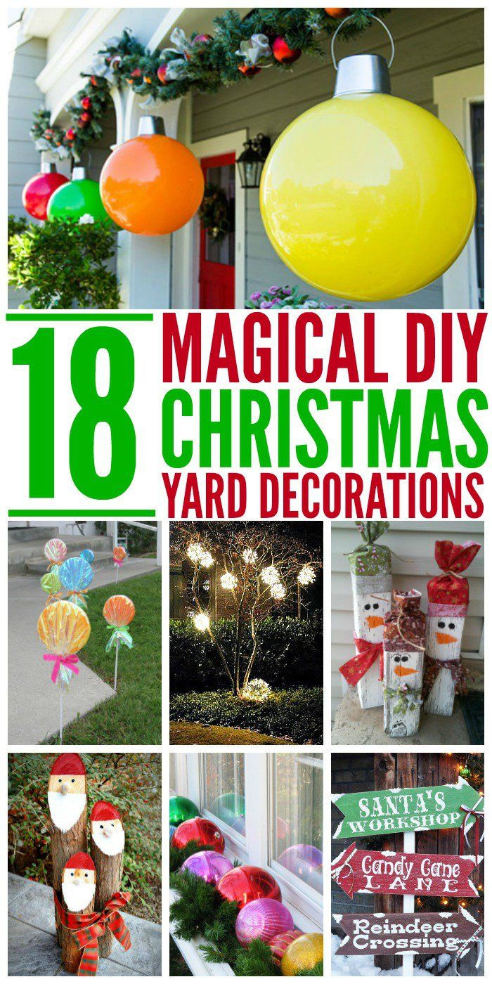 DIY Christmas Decorations For Outside