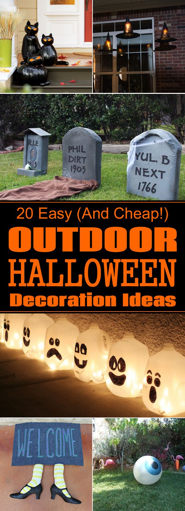 Handmade DIY Halloween Decorations For Outside