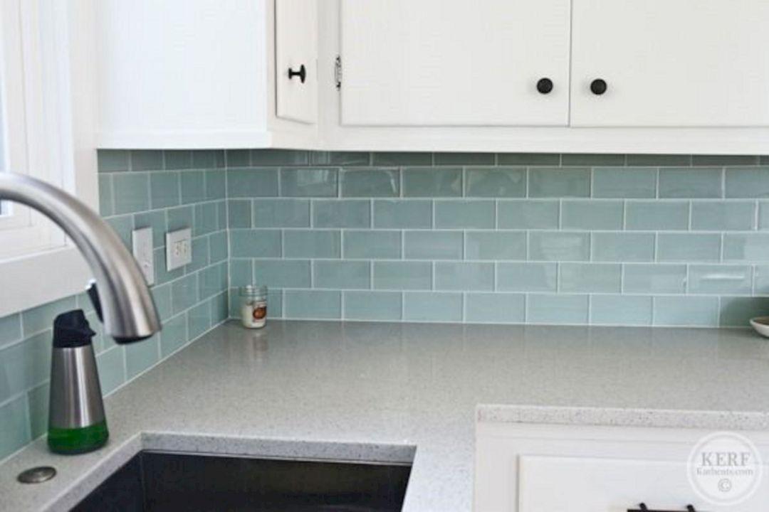 Glass Tile Kitchen Backsplash