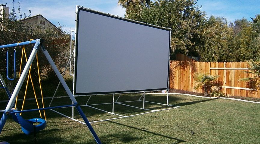 Outdoor Projector Screen With Stand