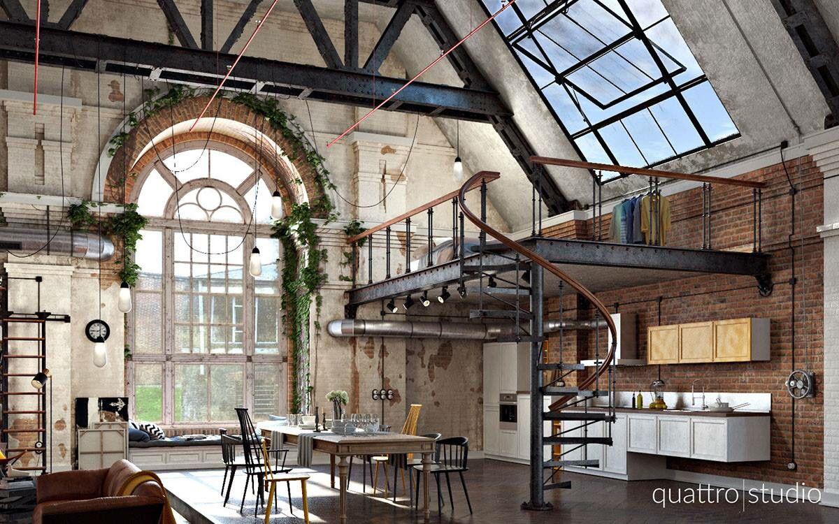 Industrial Loft Apartment