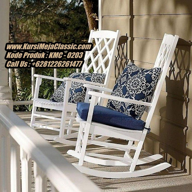 White Outdoor Rocking Chair