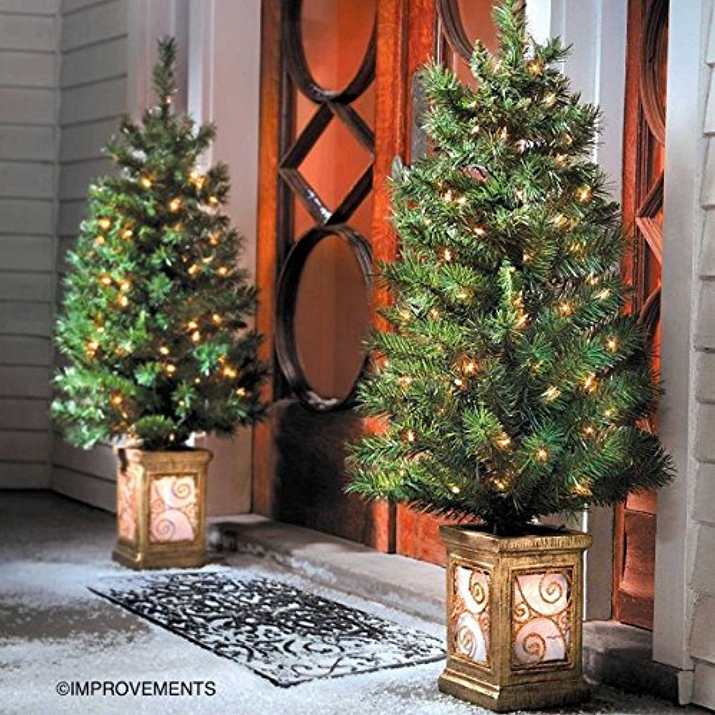 Outdoor Prelit Christmas Trees