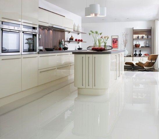 White Kitchen Floor Tiles